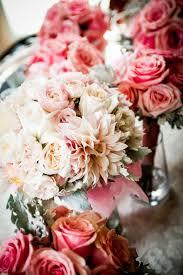 Wedding Flowers For September Blush Dahlias White Hydrangea And Blush Spray Roses For The