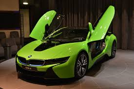 Bmw I8 All Electric - bmw i8 in neon green