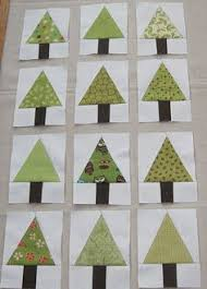 pieced christmas tree block quilt tutorial by angie from stitching