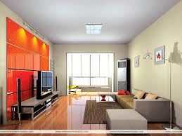 spacious living room interior exterior plan use of fiery colours in spacious living room