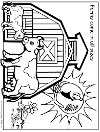 Farm Color Page Coloring Pages For Kids Family People And Farm Color Page