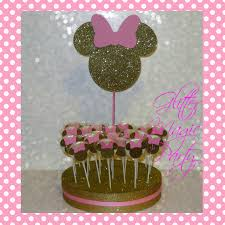 minnie mouse party decorations minnie mouse light pink and gold by glittermagicparty on zibbet