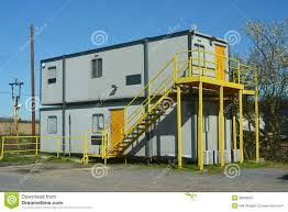 mobile office cabin type construction stock photo image 38908825