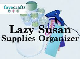 how to make a supplies organizer with a lazy susan youtube