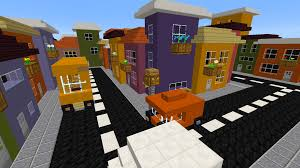 Minecraft City Maps Images Color City A Small Parkour Map Worlds Projects