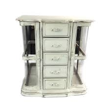 Antique Jewelry Armoires Furniture Antique Distressed White Large Jewelry Armoire Design