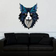 animal pop art wall decal 9 lives by dean russo