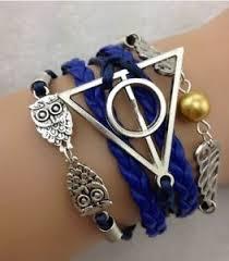 ebay charm bracelet silver images New infinity owl triangle angel beads leather charm bracelet jpg