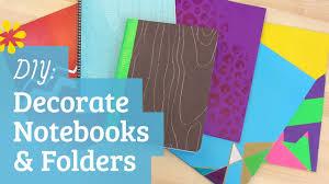 DIY Back to School Notebook & Folder Decoration