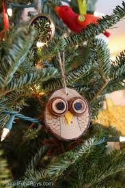 owl ornaments how to make adorable wood slice owl ornaments and an owl tree