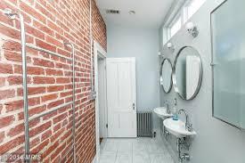 Contemporary Bathroom Wall Sconces Contemporary 3 4 Bathroom With Wall Sconce U0026 Limestone Tile Floors