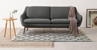 Oslo Bathroom Furniture by Oslo 3 Seater Sofa Marl Grey With Dark Stained Oak Legs Made Com