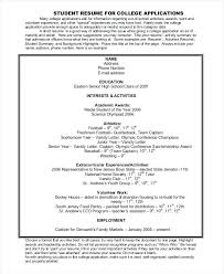 academic resume for college applications resumes for college applications foodcity me