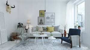 living room scandinavian living room with gray sectional sofa also