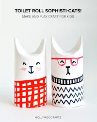 toilet roll crafts let u0027s make sophisti cats toilet cat and crafts