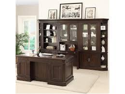 Double Pedestal Desk With Hutch by Parker House Stanford Double Pedestal Executive Desk With 7