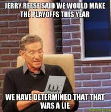Reese Meme - jerry reese said we would make the playoffs this year we have