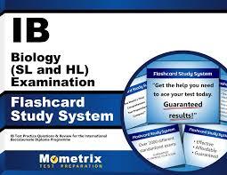 ib biology sl and hl examination flashcard study system ib test