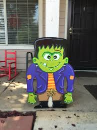 halloween yard art frankenstein yard sign outdoor halloween