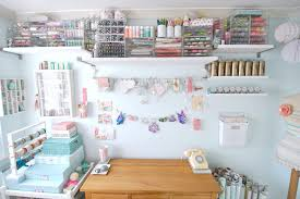 Pink Craft Room - craft room furniture home office shabby chic style with open