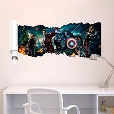 super hero america captain wall stickers decor 1432 diy kids