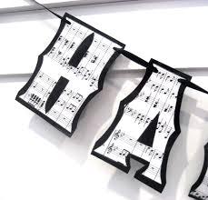 Music Decor by Musical Birthday Banner Music Birthday Banner Sheet Music