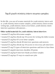 Best Youth Resume by Coordinator Of Youth Ministry Resume Virtren Com