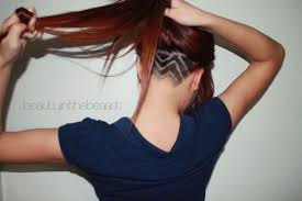 redhair nape shave undercuts from the occipital to the nape for those girls who like