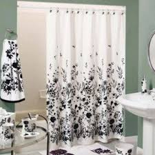 Black And White Vertical Striped Shower Curtain Shower Curtain Black White Foter