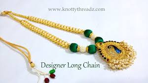 ethnic necklace design images This video shows how to make silk thread designer long neck chain jpg
