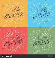 Tecture Design by Hello Four Season Vector Calligraphy Style Stock Vector 519192178