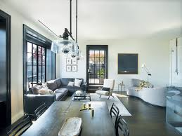 designer sara story outfitted the living room with a mohair and