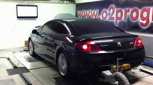 peugeot 407 coupe 2007 test dyno reprogrammation moteur peugeot 407 2 7 hdi 204ch