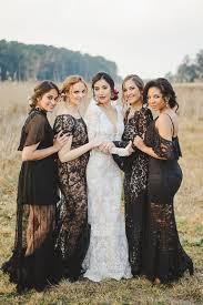 black bridesmaid dresses stunning black bridesmaid with lace adornment wedding