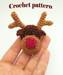 crochet reindeer pattern crochet brooch pattern crochet christmas