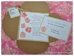Do It Yourself Wedding Invitations Wonderful Do It Yourself Wedding Invitations 5 Homemade Bridal