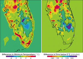 temperature map florida freeze and sea changing land and weather in florida