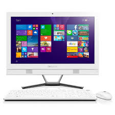 ordinateur de bureau tactile tout en un pc de bureau tout en un lenovo c40 30 tactile i3 4go blanc