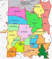 map of oregon portland portland oregon neighborhood map portland oregon mappery