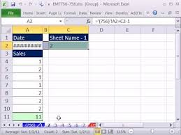 excel magic trick 756 create sequential dates across sheets