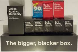 cards against humanity expansion pack cards against humanity complete set expansions 1 5 bigger blacker