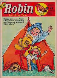 andy pandy comic strip robin u0026 story 17th august 1968
