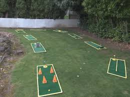 a 9 hole course i layed out in my backyard mini golf