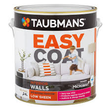 taubmans easycoat interior wall paint 4l low sheen white