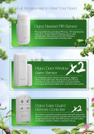 digoo dg hosa 433mhz wireless gsm u0026wifi diy smart home security