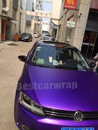 volkswagen purple metallic matte chrome purple viny for car wrap film with air