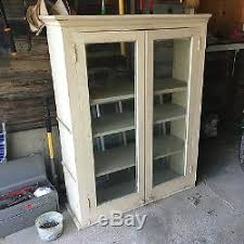 rustic glass kitchen cabinets vintage wood kitchen cabinet cupboard shelf glass doors