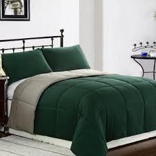 Green Double Duvet Cover Modern Bedding For Men Allmodern