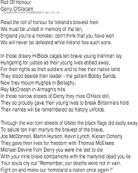 song and ballad lyrics for roll of honour