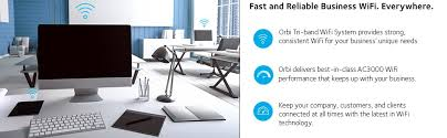 B And M Table And Chairs Amazon Com Orbi Wifi System For Small Businesses Ac3000 Tri Band